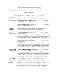 Resume Examples For College Graduates With No Experience