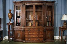 High End China Cabinets Antique Mahogany China Cabinet And Bookcase