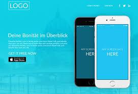 Free Minimal Blue App Landing Page PSD Template - TitanUI