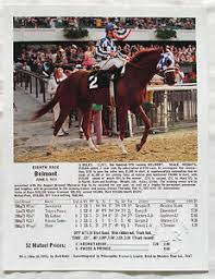 Details About Secretariat Belmont Stakes Triple Crown Ron Turcotte 1973 Photo With Chart
