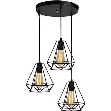 vintage cage chandelier retro