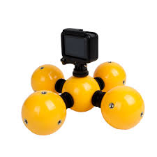 floating ball bobber float with safety lanyard strap for gopro