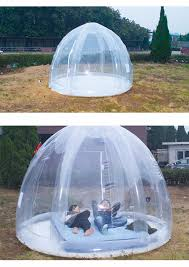 Inflatable Room Lawn Clear Transparent Igloo Dome Type Greenhouse Inflatable