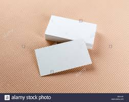 Stack Of Blank Business Cards On A Colored Background Template For