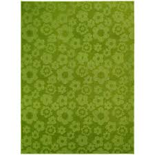 garland rug flowers lime 5 ft x 7 ft area rug