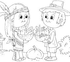 Pilgrim Boy Coloring Page Pilgrim Girl And Boy Coloring Page