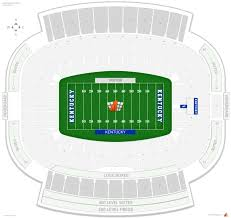 Uk Football Stadium Seating Chart Kroger Field Kentucky Seating Guide Rateyourseats Com