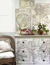 decoupage ideas for furniture. 25 diy interior decorating ideas to use maps design 2012 before and after decoupage for furniture