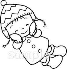 女の子 防寒着イラストなら小学校幼稚園向け保育園向け健康