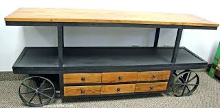 tv stand with casters. Tv Stands With Wheels Industrial Stand Vintage Furniture Metal On . Casters