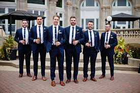 navy suit wedding. Wedding party Wedding photography blush copper white Navy suits