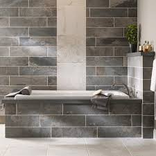 types of grout tiled wall in bathroom