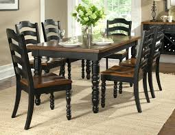 Black And Cherry Dining Set Lovable Country Room Sets French Kitchen Table Decor Pedestal