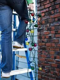 How To Hang Christmas Lights DIY - Hanging exterior lights