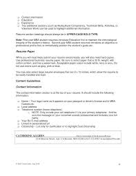 other information on resume 8 i contact information the contact information  on your resume should include