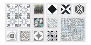 cement tiles black mosaic factory