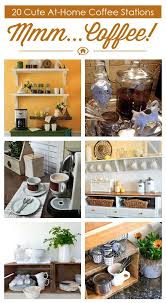 20 cute at home coffee stations via hometalk featured on httpwww unique diy coffee station