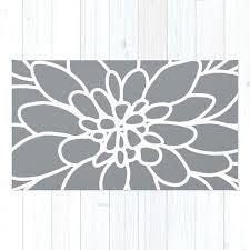 flower area rug modern dahlia flower rug area rug slate grey and white flower rug modern flower area rug