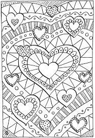 My favorite way to add a little color is the painting with markers method. 20 Valentines Coloring Pages Happiness Is Homemade