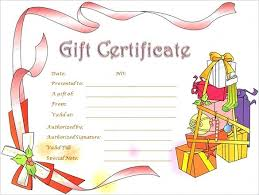 Christmas Gift Card Template Certificate Word Documents Throughout