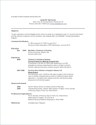 Graduate Nurse Resume Samples New Registered Nurse Resume Sample