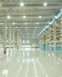 ge s pune india facility installed energy efficient led high bay lighting fixtures