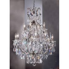 bronze and crystal chandelier. Garden Of Versailles 13 Light Chandelier Finish: Antique Bronze With Gold Patina, Crystal Type And