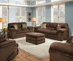 Upholstered Living Room Sets Simmons Upholstery Harper Umber Living Room Set 6150 By Simmons