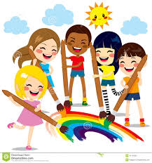 kids painting picture. Fine Painting Download Kids Painting Rainbow Stock Vector Illustration Of Cheerful   41181392 For Picture I