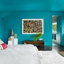 aqua bedroom. vivacious aqua hue bathes modern bedroom q