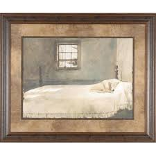 Posters Master Bedroom Andrew Wyeth 35x29 Gallery Quality Framed Print Dog  Sleeping Bed Picture   Home   Home Decor   Wall Decor   Wall Art