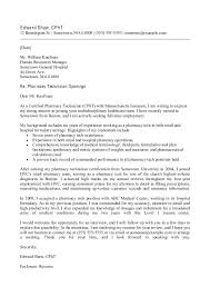 Financial Technician Cover Letter Sarahepps Com