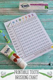 Free Printable Tooth Brushing Chart Tooth Brushing Chart Sarah Halstead