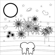 かわいい花火大会の無料イラスト商用フリー オイデ43