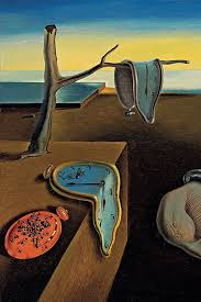 this is a famous painting by a spanish painter the floppy clocks are supposed to