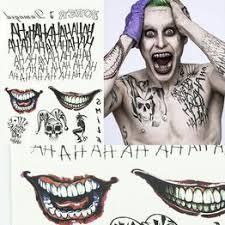 Vova Halloween Batman Joker Dočasné Tetování Kostýmy Fancy Dress