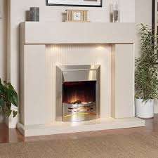 katell durban electric fireplace suite