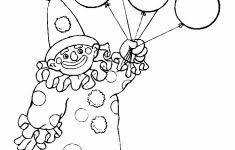 Kleurplaat Ballon Luxe Kleurplaat Clown Met Ballon Archidev