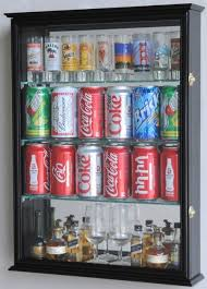 Beer Can Vending Machine Simple Mini Liquor Bottle Beer Can Display Case Wine Racks Bar Display