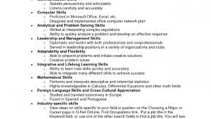 Non Technical Skills For Resume Non Technical Skills Resume Non Technical  Skills Resume