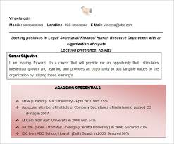 New Secretary Objective For Resume Examples B4 Online Com