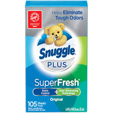 Snuggle Plus Super Fresh Fabric Softener Dryer Sheets with Static Control  and Odor Eliminating Technology,