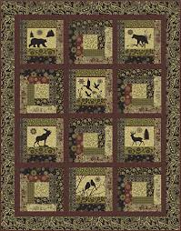 Log Cabin Wild Lap Quilt Kit! … | Pinteres… & Quilt: Montana Log Cabin Easy and beautiful pattern for fussy cut panels! Adamdwight.com