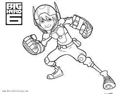 Hiro Hamada From Big Hero 6 Coloring Pages Free Printable Coloring