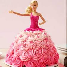 25 Kg Pretty Barbie Cake Delivery To Ahmedabad At Midnight