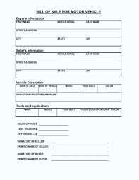 Bill Of Sale Word Template Best Car Bill Of Sale Template Simple Bill Of Sale For Car Template