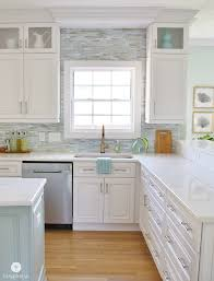 Kitchen With Glass Tile Backsplash Extraordinary Installing A Paper Faced Mosaic Tile Backsplash