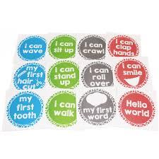 <b>12PCS/Set Baby Month</b> Sticker Newborn Photo Prop Stickers 1 12 ...