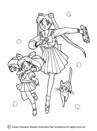 Small Picture Sailor Moon going to school coloring page More Manga coloring