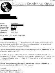 barclays bank debt settlement letter